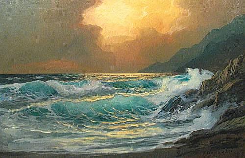 Alexander Dzigurski (Yugoslavian/American, 1911-1995) Incoming Tide 24 x 36in