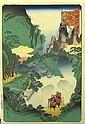 Hiroshige II (1826-1869) Four woodblock prints,  Hiroshige (1826), Click for value