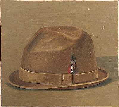 Fine Art From the Estate of Phyllis Butterfield Gordon Cook (American, 1927-1985) Hat 16 x 17 1/2in