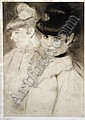 Edgar Chahine (French, 1874-1947); Brune et Blonde, 2ème Planche;, H Edgar Chahine, Click for value