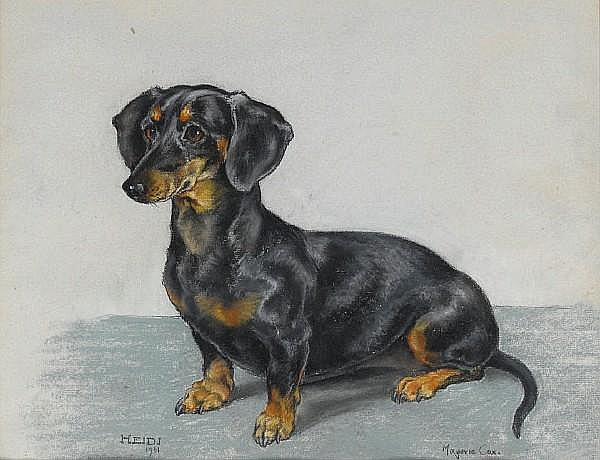 Marjorie Cox (British, 1915-2003) 'Heidi' 18 x 14 1/8 in. (45.5 36 cm.)