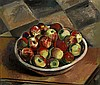 Bowl of apples 22 1/4 x 26 1/2in overall: 25 1/2 x 29 3/4in, Maurice  Sterne, Click for value