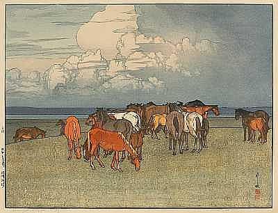 Hiroshi Yoshida (1876-1950): one oversize modern print
