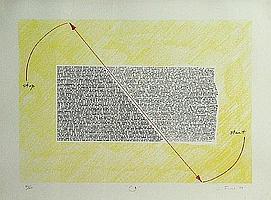 Jud Fine (American, born 1944); Untitled (Curved Arrow); Untitled (Waving Line); (2)