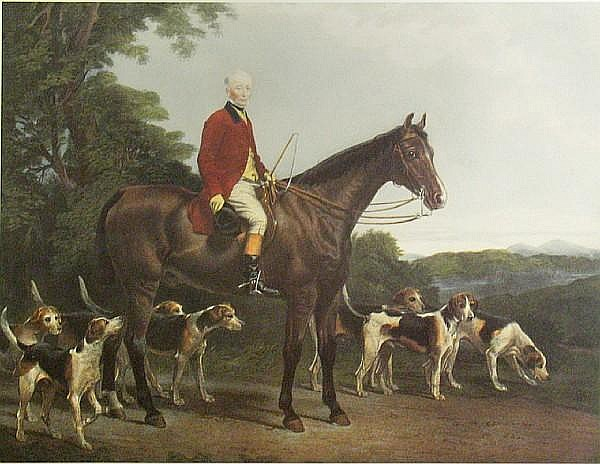 Copies after Charles George Lewis (British, 1808-1880) and James Scott (British, born 1809) Mr. Williamson, Huntsman to His Grace the Duke of Buccleuch; The Heythorp Hunt; (2)