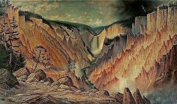 James Everett Stuart (1852-1941) Great Falls and Canyon of the Yellowstone, 1901 72 x 120in