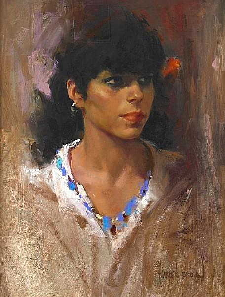 Harley Brown (Canadian, born 1939) Esperanza 18 x 14in