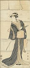 KATSUKAWA SHUN'EI (1762-1819)   Three woodblock prints