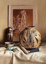 William Acheff (born 1947) Old Zuni 38 x 28in