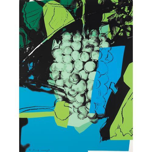 A. Warhol; Grapes; Silkscreen