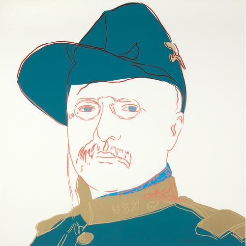 A. Warhol; Teddy Roosevelt; Silkscreen