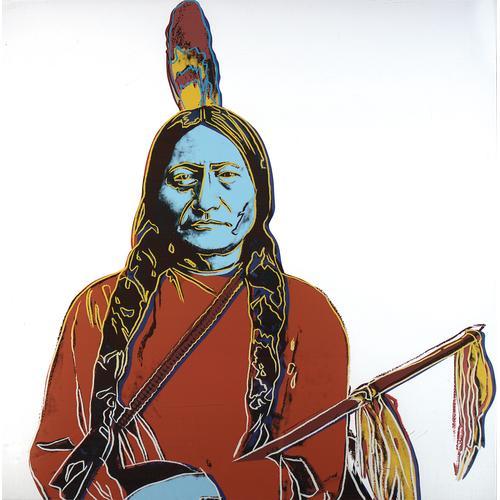 A. Warhol; Sitting Bull; Silkscreen