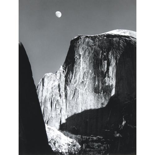 Ansel Adams, Moon and Half Dome, photograph