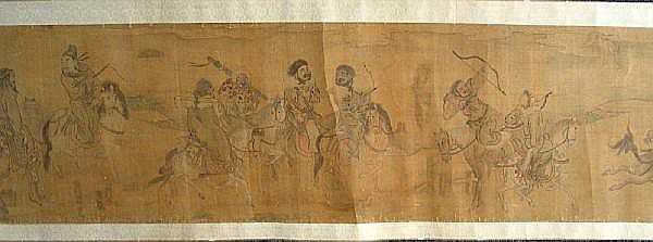 After Zhao Mengfu (1254-1322) Figures on Horses