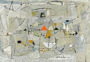 Robert Knipschild (American, 1927-2004) Untitled (Abstract Composition), 1951 sight 21 5/8 x 31 1/2in