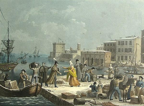 Jean-Pierre-Marie Jazet (French, 1788-1871); Le Depart du Marin; Le Retour du Marin; (2)