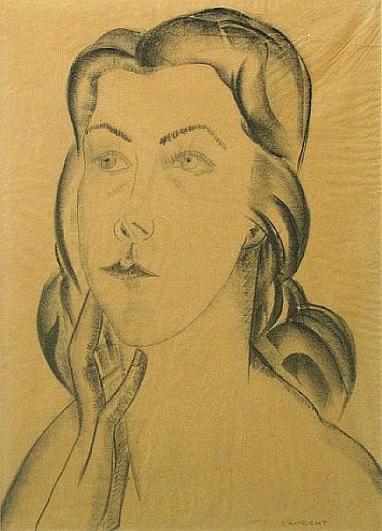 Robert Laurent (American, 1890-1970) Head of a girl sight 16 x 11 1/2in