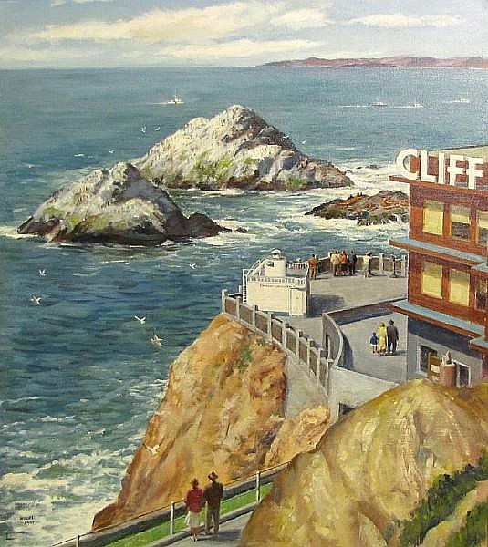 Michel M. Kady (American, 1901-1977) Cliff House, San Francisco 28 x 24 1/4in