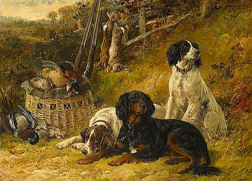 James Hardy Jnr. (British, 1832-1889) The First of October 24 3/4 x 34 1/4 in. (63 x 87 cm.)