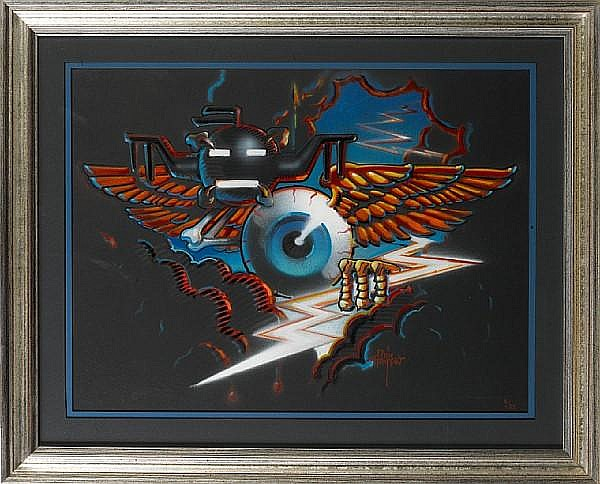 Rick Griffin: Winged Eyeball, 1988,