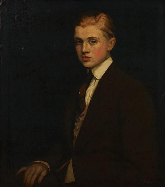 Maxmilian Aurel Reinitz Rasko (Hungarian/American, 1883-1961) A portrait of a gentleman, thought to be Eugene Saber 30 x 26in