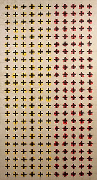 Brian Clarke (British, born 1953) Untitled (from the Vertical series), 1979 72 x 36in