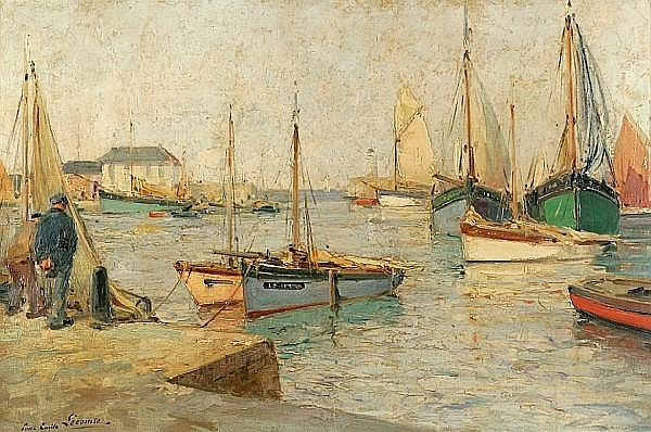 Paul Emile Lecomte (French, 1877-1950) High tide 24 1/8 x 36in (62.3 x 91.44cm)
