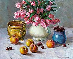 Ovanes Berberian (b. 1951) In Cherry Blossom Time, 1983 24 x 30in