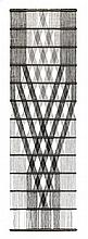 PETER COLLINGWOOD (1922-2008) M.29 No.7 (wall hanging) woven black linen th