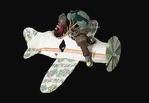 MISAKI KAWAI (BORN 1978) Untitled, 2005 fabric, beads, ribbon, plastic toys