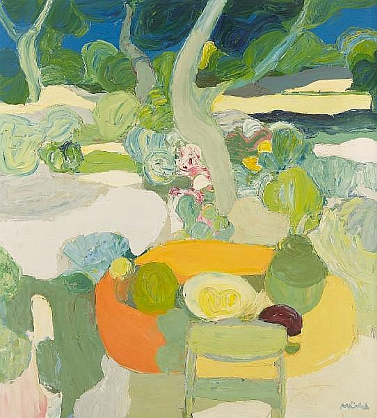 Roger Mühl (French, 1929-2008) Le jardin 43 1/2 x 39 1/2in (110.5 x 100.3cm)