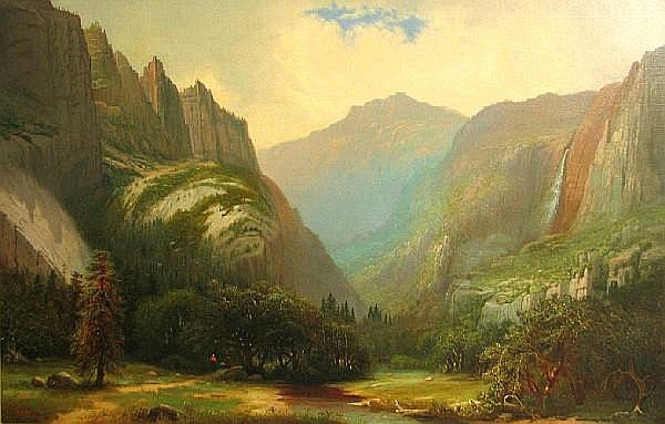 George W. King (American, 1836-1922) Dawn over Yosemite 30 1/4 x 44in