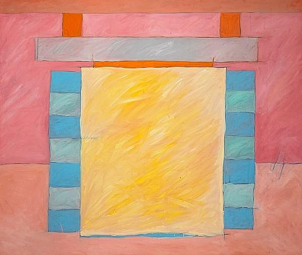 Laurent Sarlatte (American, born 1945) Yellow window I, 1986 53 x 62 1/2in