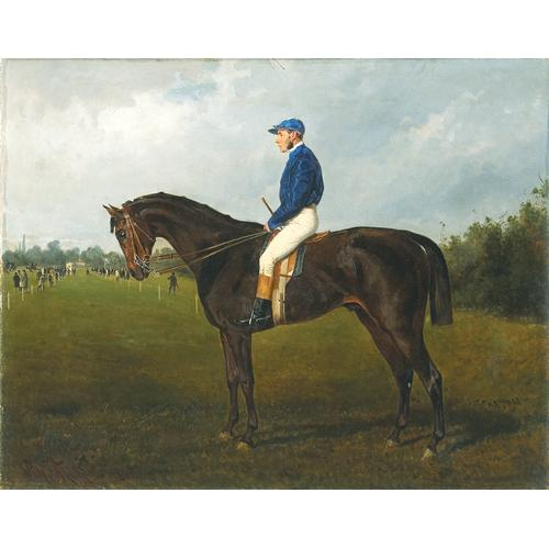 Wilhelm Richter, A Horse and Jockey, oil on canvas