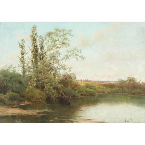 Jose Maria Jardines River Landscape Oil