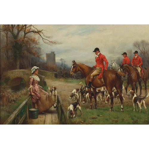 John Sanderson Wells Fox Hunt Landscapes (2) Oil