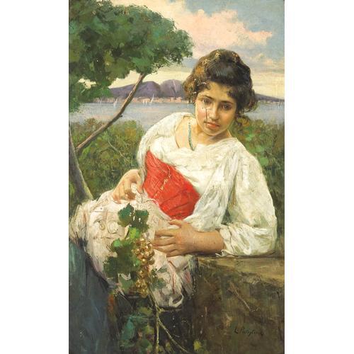 Luca Postiglione Portrait Girl Oil