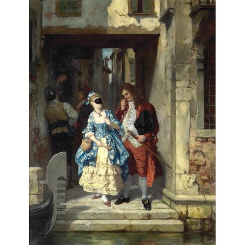 Carl Becker  Carnaval Venice Oil