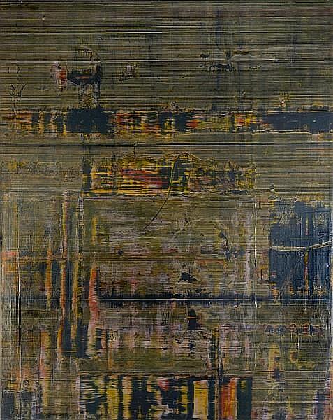 Jack Whitten (American, born 1939) Stevie's Maze, 1974 72 x 60in unframed