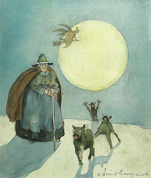 Lionel Barrymore (American, 1878-1954) The witches sight: 10 1/4 x 9in