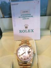 Gentlemens 18k Gold Rolex Watch.