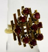 Gold & Ruby Ring
