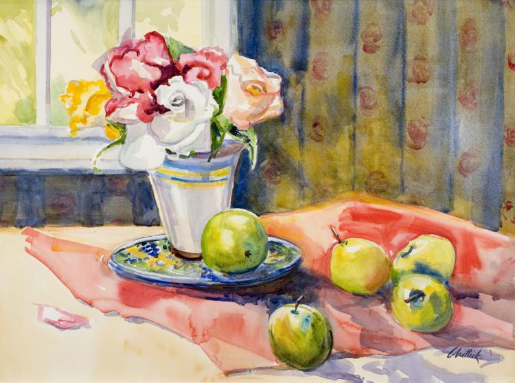 Apples and Roses by JoAnne Chittick