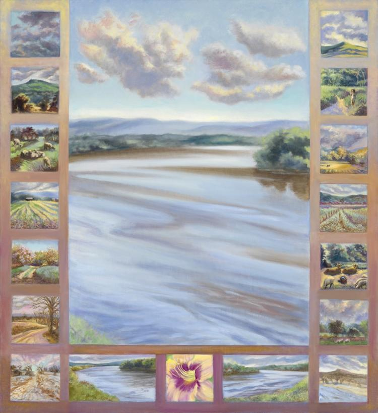 River Quilt by Gillian Haven