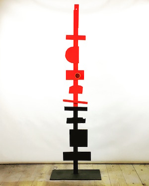 Red & Black Totem by Peter Cohen