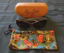 Blue And Brown Maui Jim Womens Sunglasses