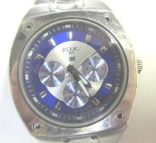 Relic Wet by Fossil Stainless Blue Silver Watch