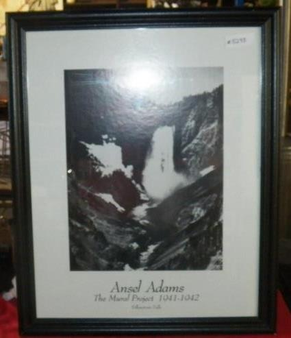 Ansel adams yellowstone falls for Ansel adams the mural project posters
