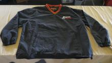 Black And Red Snap-On Racing Wind Breaker
