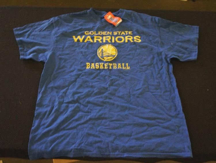 2 warriors shirt and a giants beanie for Shirt printing stockton ca